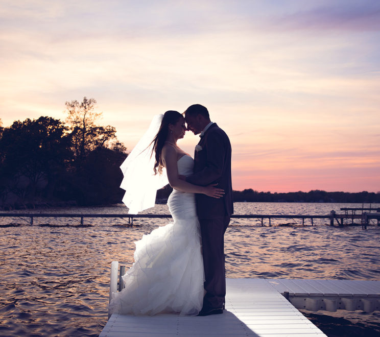 Bay Pointe Sunset Wedding