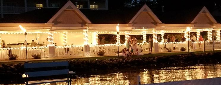 Bay Pointe Lakefront Pavilion at Night